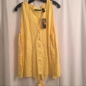 Plus Size Yellow INC Tank Top